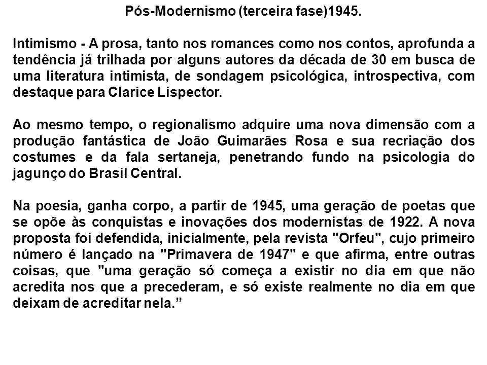 Pós-Modernismo (terceira fase)1945.