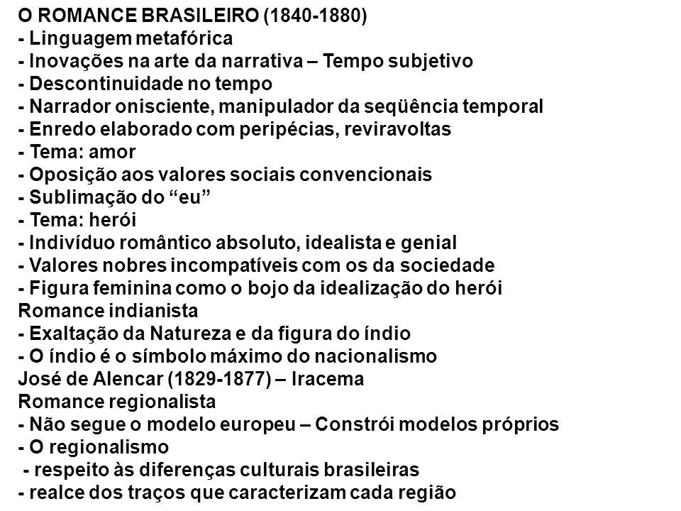 O ROMANCE BRASILEIRO (1840-1880)