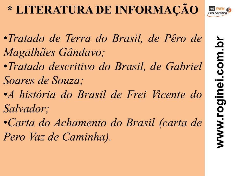 * LITERATURA DE INFORMAÇÃO