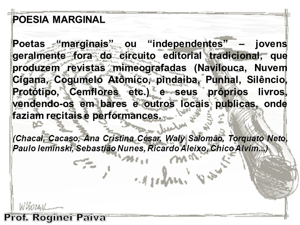 EPITHALAMIUM – II POESIA MARGINAL.