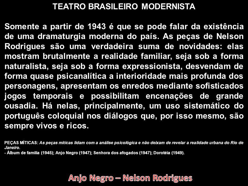 TEATRO BRASILEIRO MODERNISTA