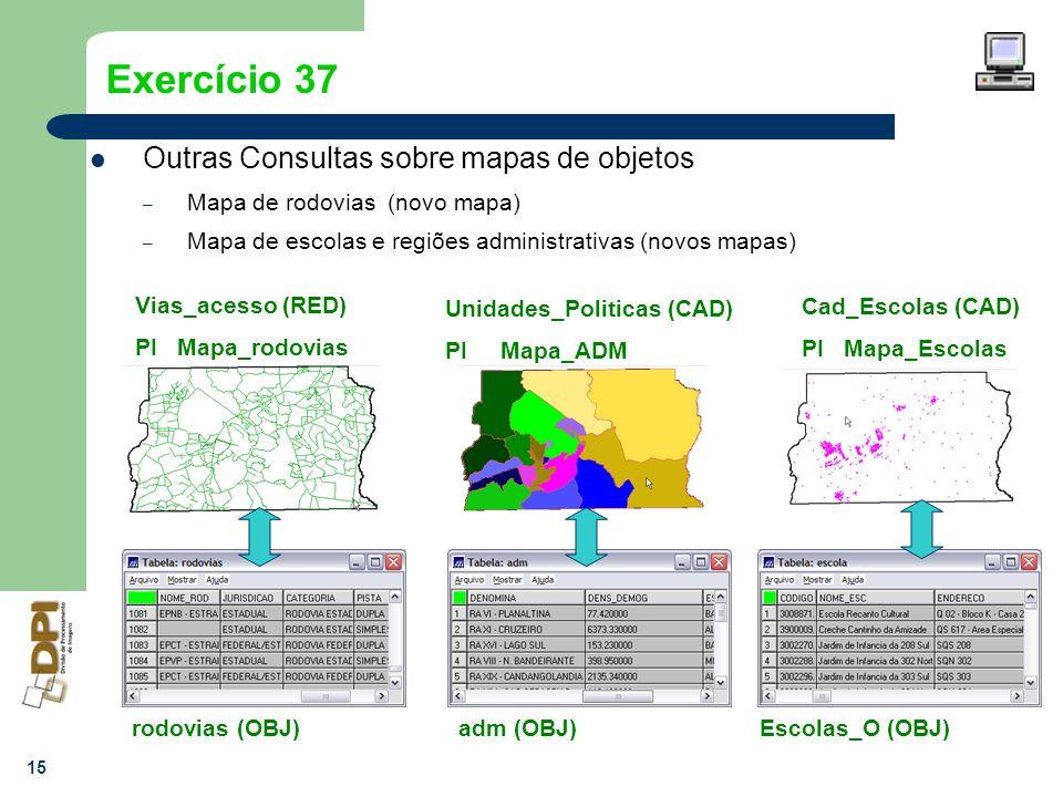 Exercício 37 Outras Consultas sobre mapas de objetos