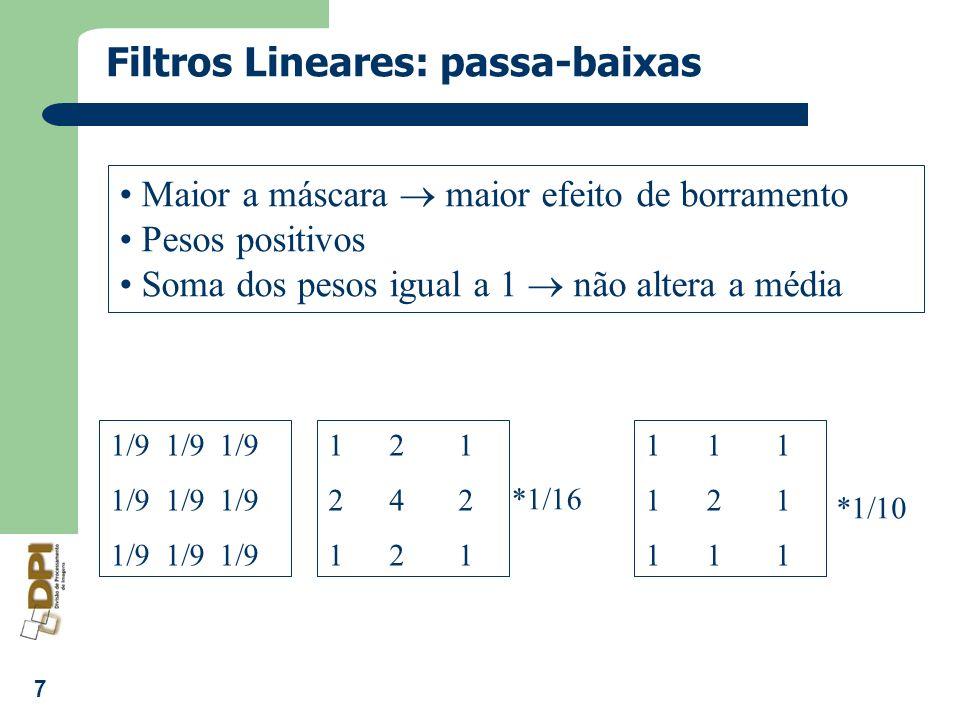 Filtros Lineares: passa-baixas