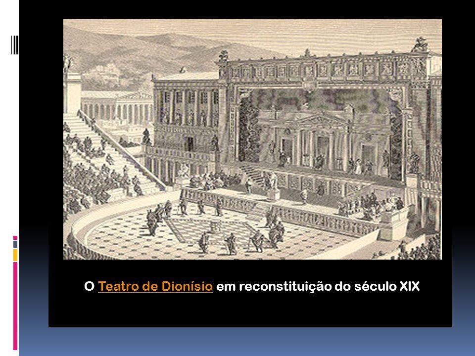 O Teatro de Dionísio em reconstituição do século XIX