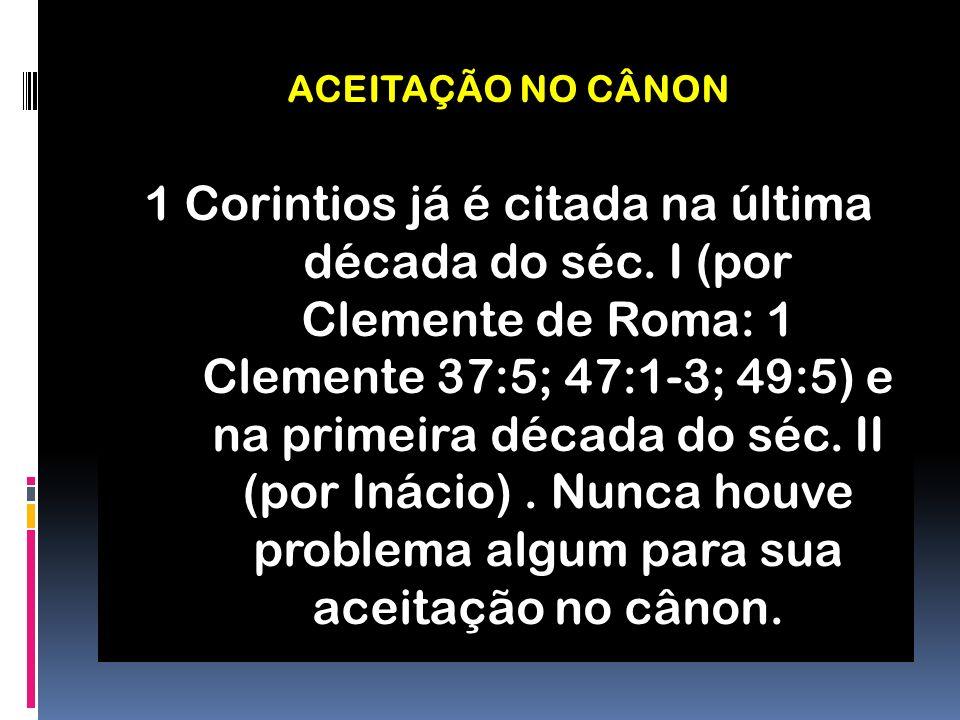 ACEITAÇÃO NO CÂNON