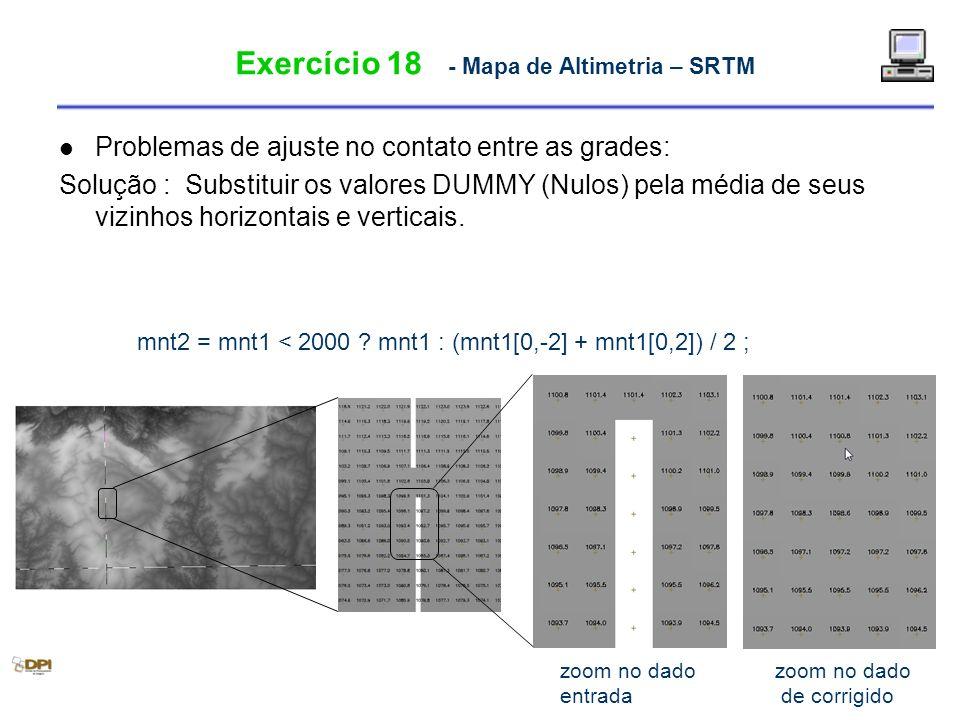Exercício 18 - Mapa de Altimetria – SRTM