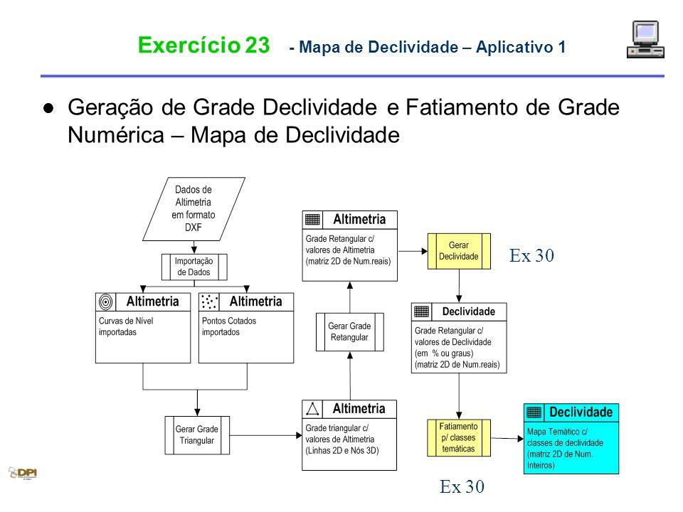 Exercício 23 - Mapa de Declividade – Aplicativo 1