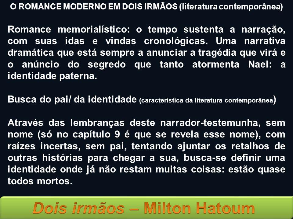 O ROMANCE MODERNO EM DOIS IRMÃOS (literatura contemporânea)