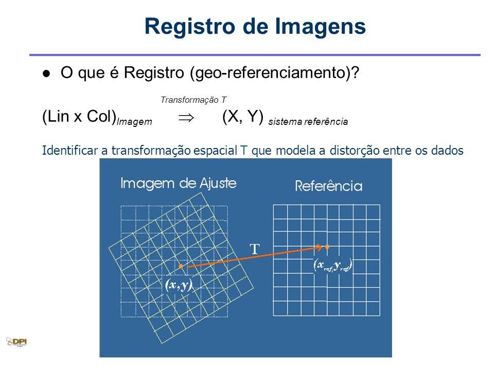 Registro de Imagens O que é Registro (geo-referenciamento)
