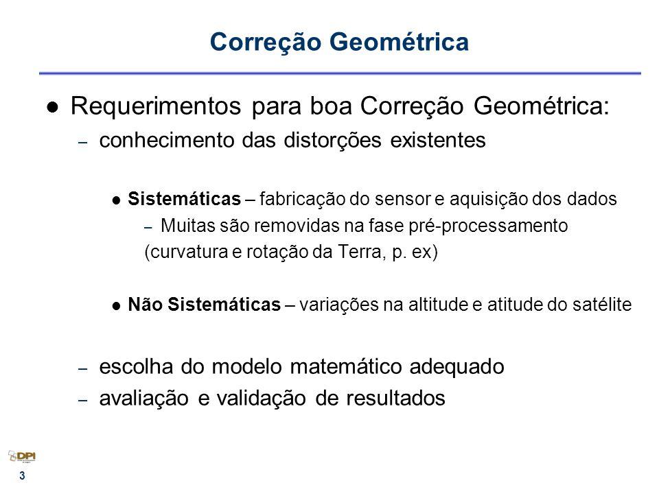 Requerimentos para boa Correção Geométrica: