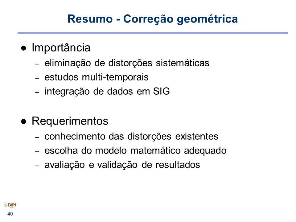 Resumo - Correção geométrica