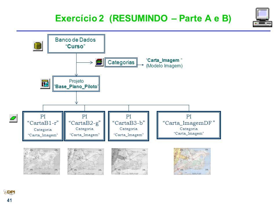 Exercício 2 (RESUMINDO – Parte A e B)
