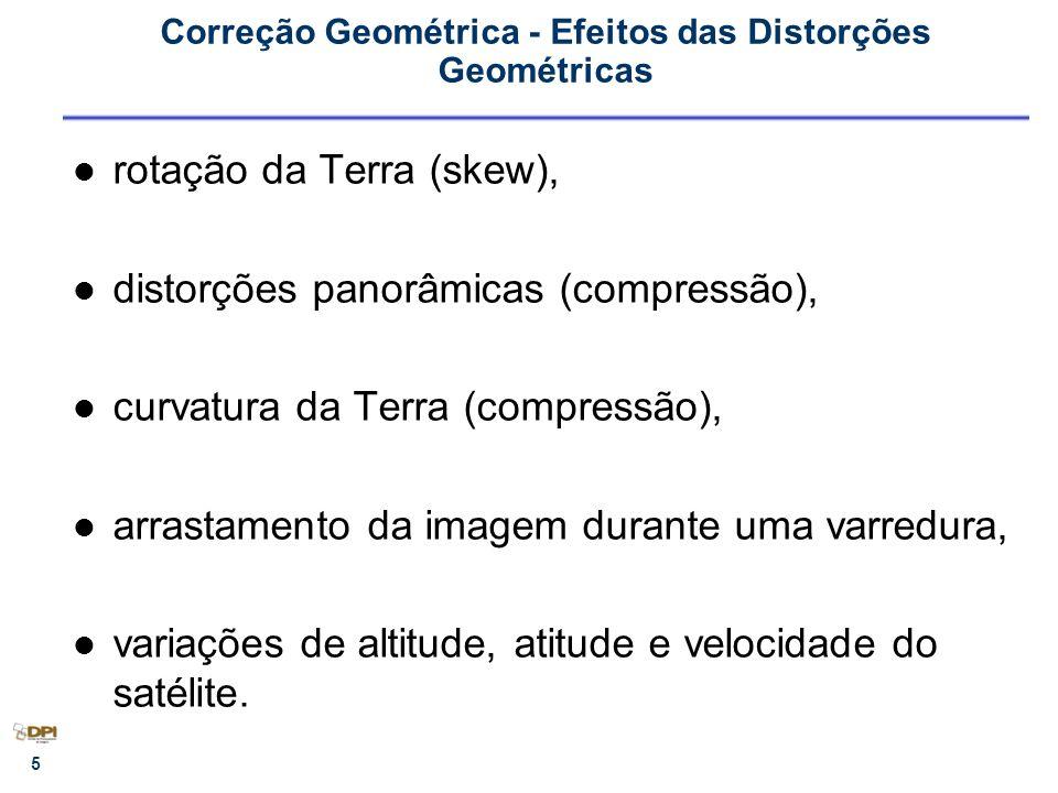 Correção Geométrica - Efeitos das Distorções Geométricas