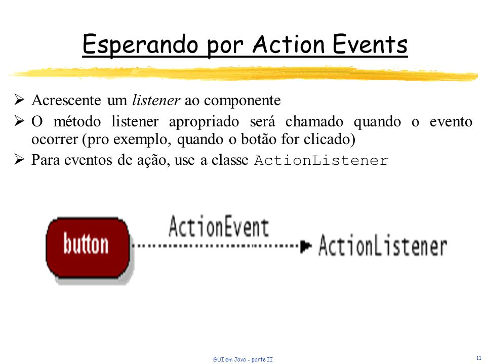 Esperando por Action Events