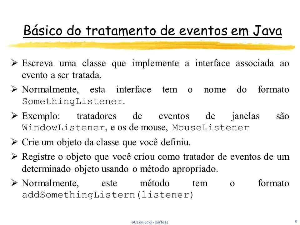 Básico do tratamento de eventos em Java