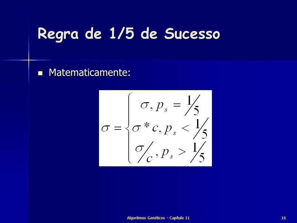 Algoritmos Genéticos - Capítulo 11