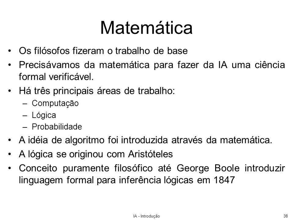 Matemática Os filósofos fizeram o trabalho de base