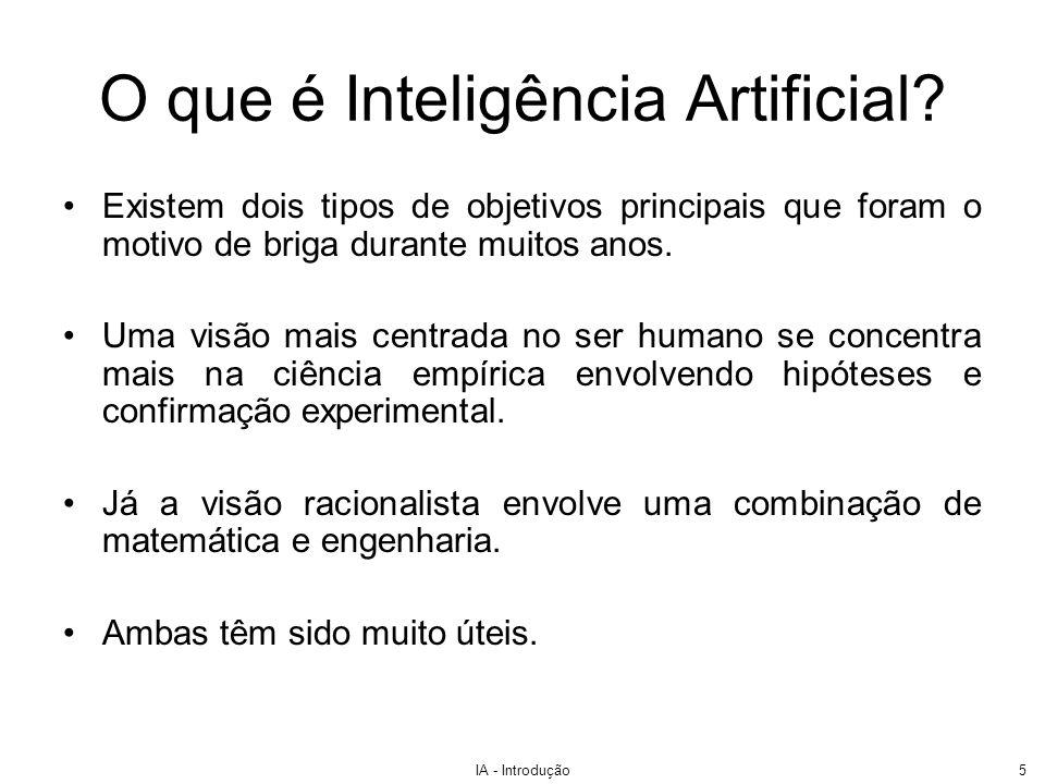 O que é Inteligência Artificial