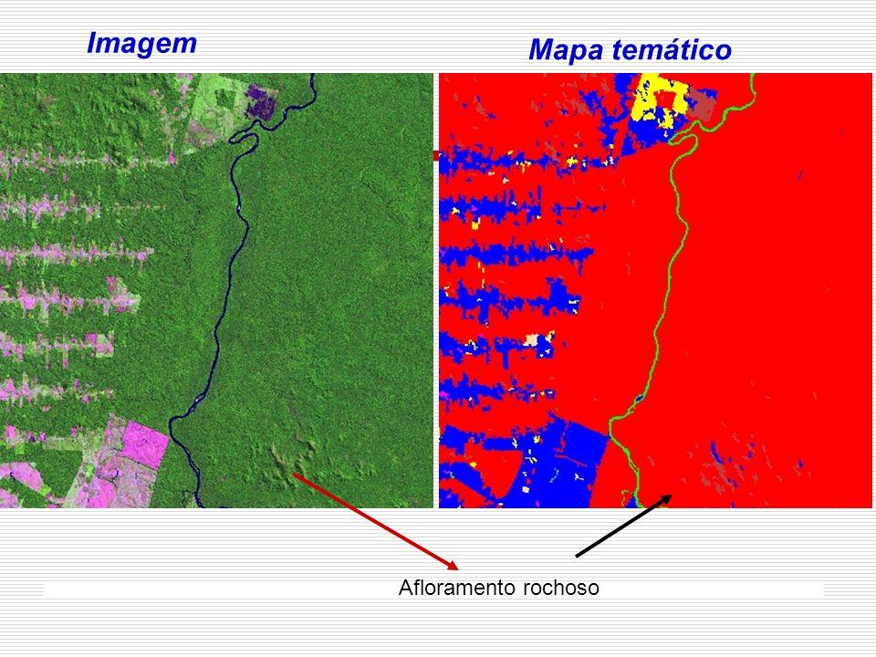 Imagem Mapa temático Afloramento rochoso