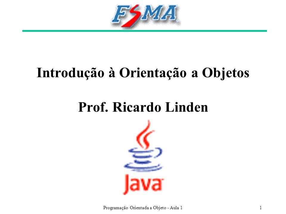 Introdução à Orientação a Objetos Prof. Ricardo Linden
