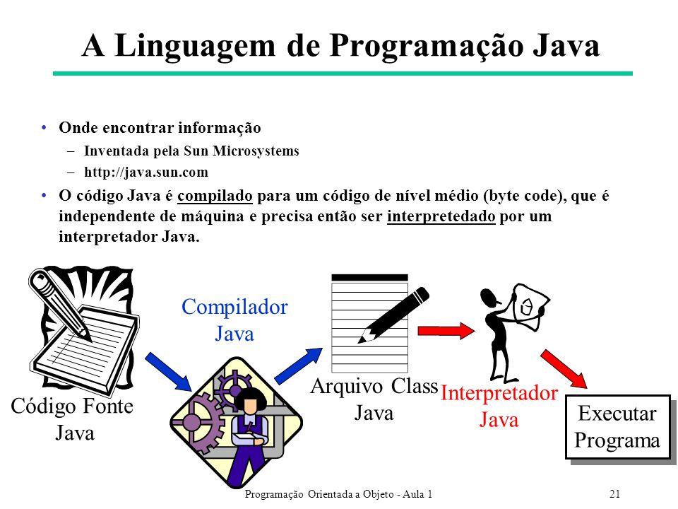 A Linguagem de Programação Java