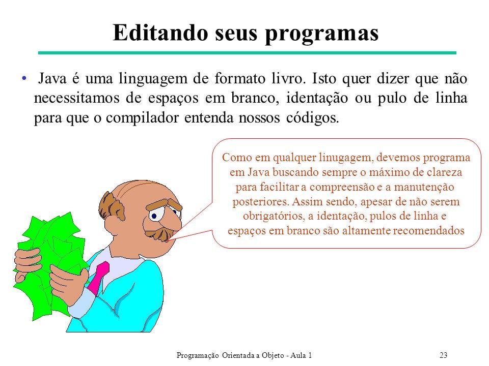 Editando seus programas