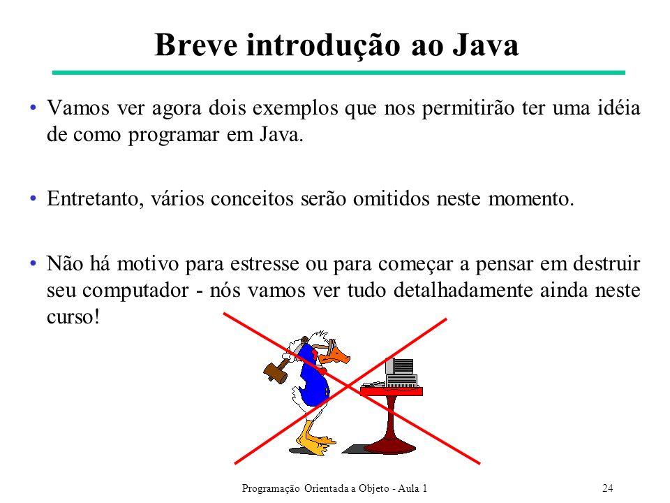 Breve introdução ao Java
