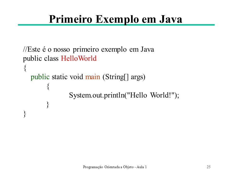 Primeiro Exemplo em Java
