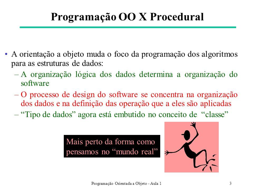 Programação OO X Procedural