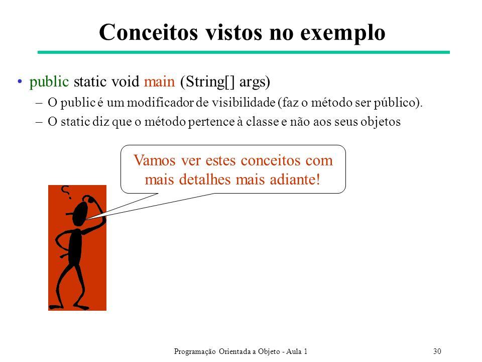 Conceitos vistos no exemplo