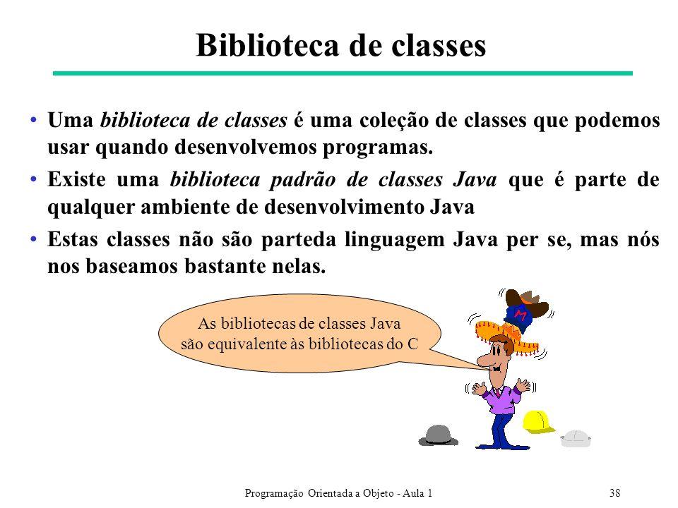 Biblioteca de classes Uma biblioteca de classes é uma coleção de classes que podemos usar quando desenvolvemos programas.