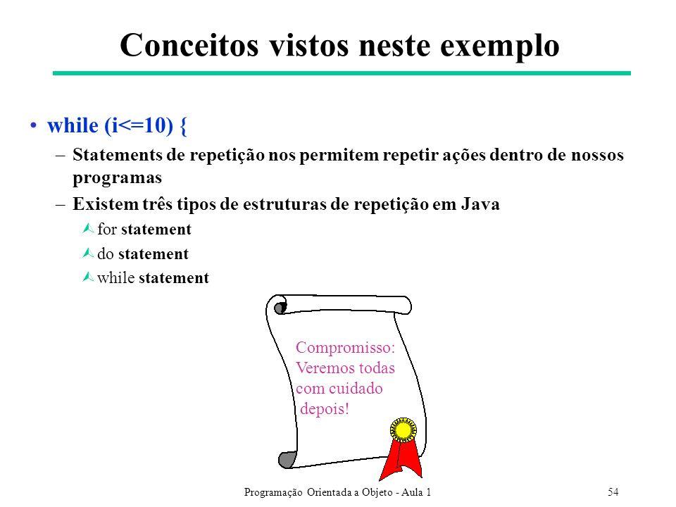 Conceitos vistos neste exemplo