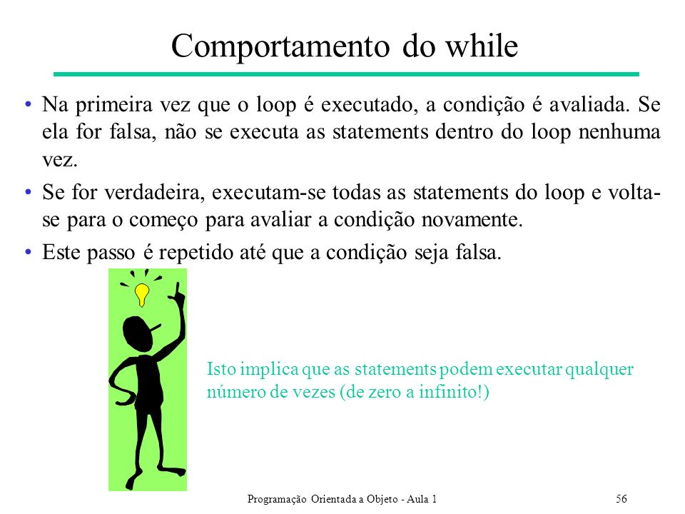 Comportamento do while