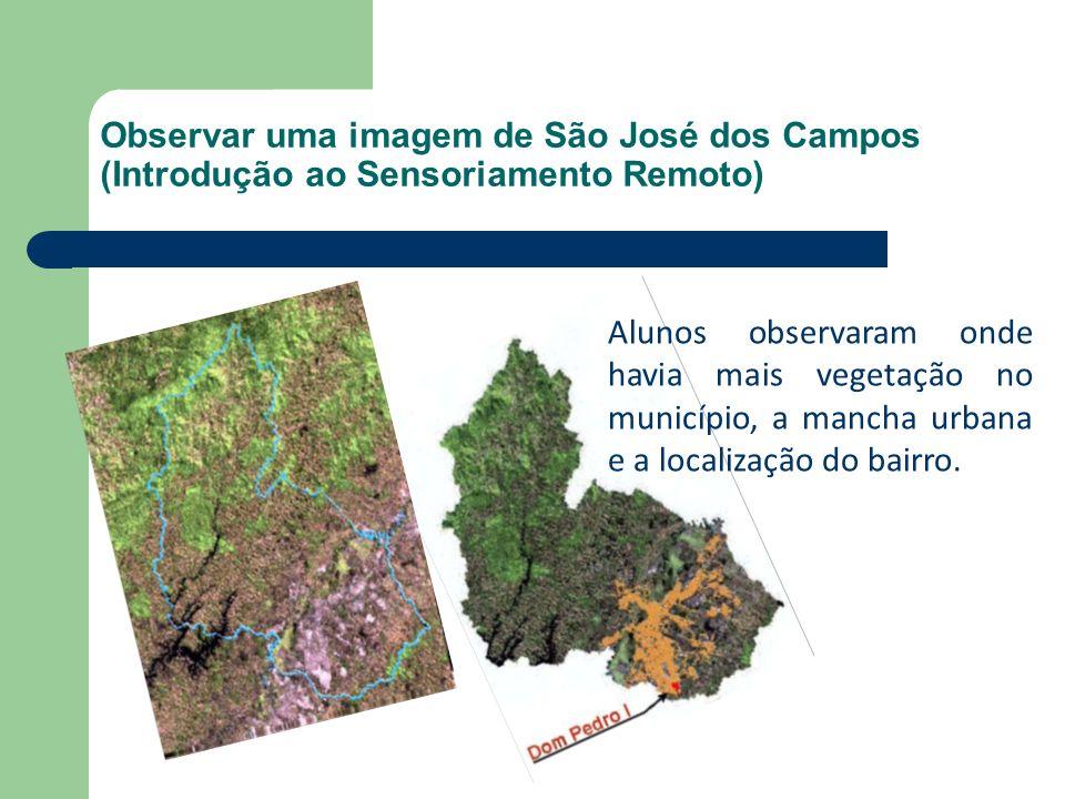 Observar uma imagem de São José dos Campos (Introdução ao Sensoriamento Remoto)
