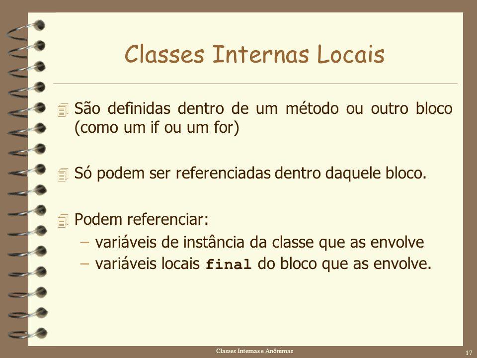 Classes Internas Locais