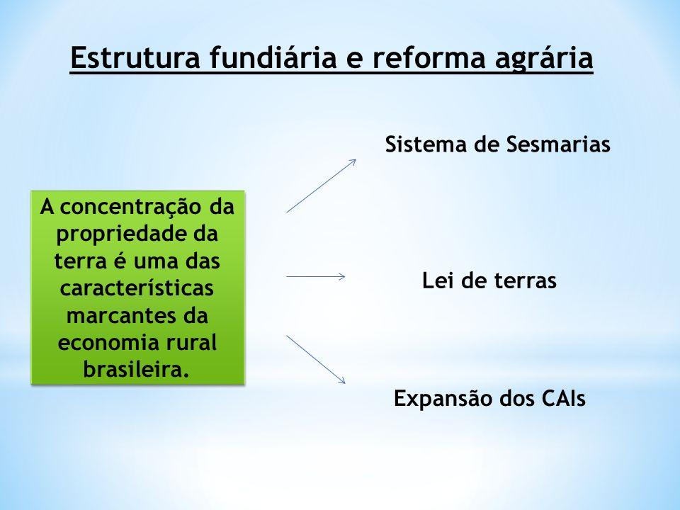 Estrutura fundiária e reforma agrária