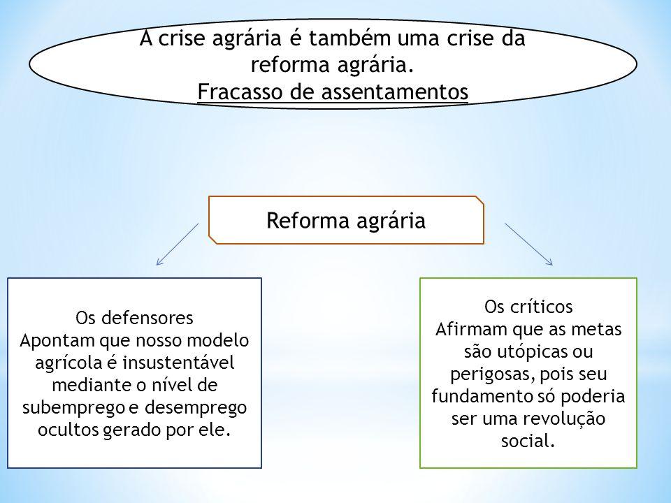 A crise agrária é também uma crise da reforma agrária.