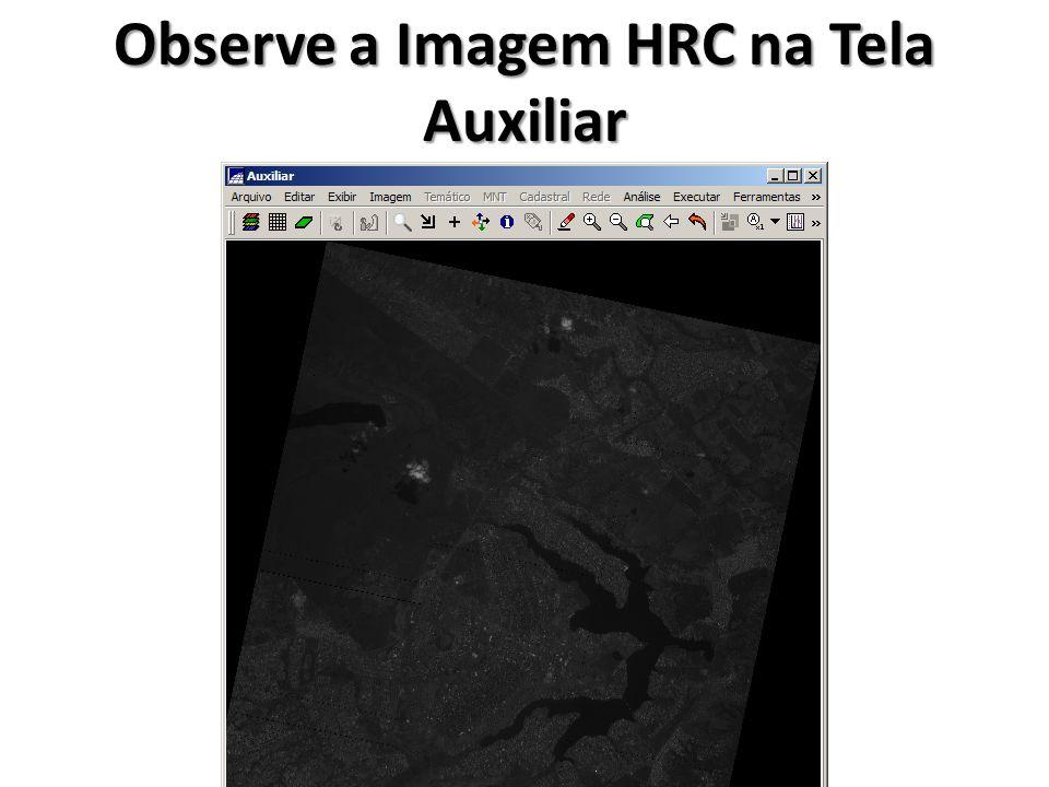 Observe a Imagem HRC na Tela Auxiliar