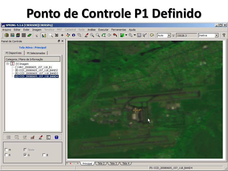 Ponto de Controle P1 Definido