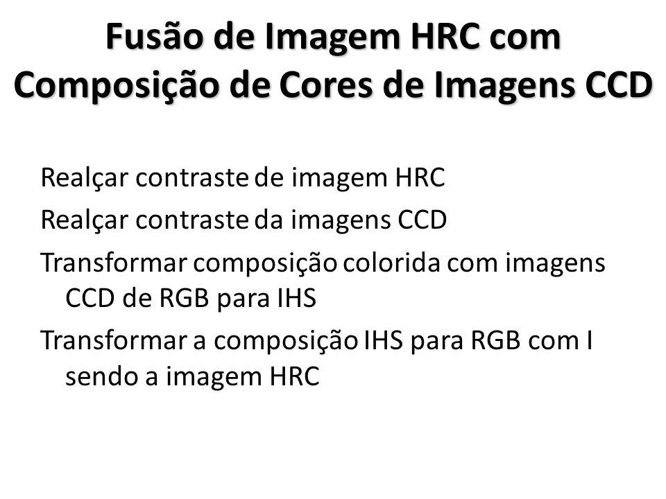 Fusão de Imagem HRC com Composição de Cores de Imagens CCD