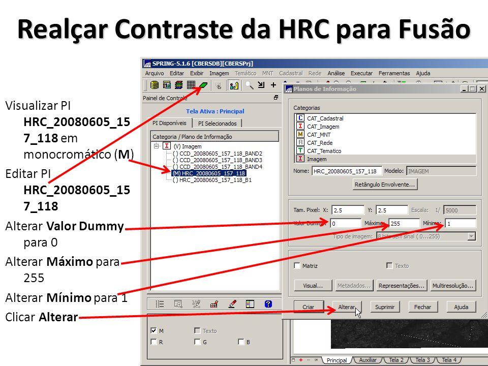 Realçar Contraste da HRC para Fusão