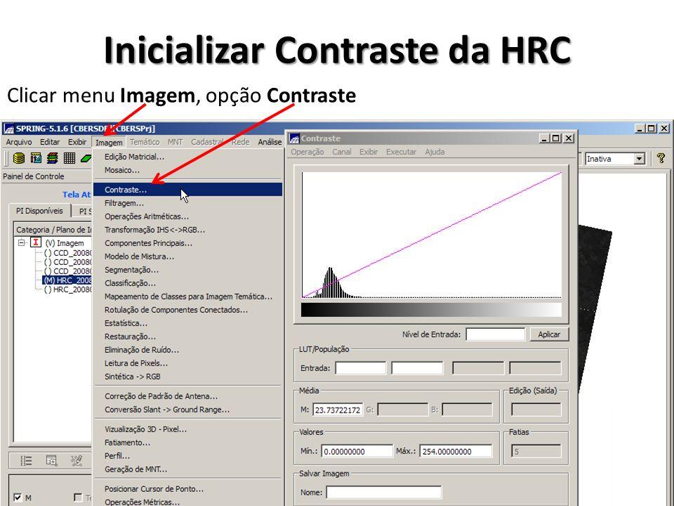 Inicializar Contraste da HRC