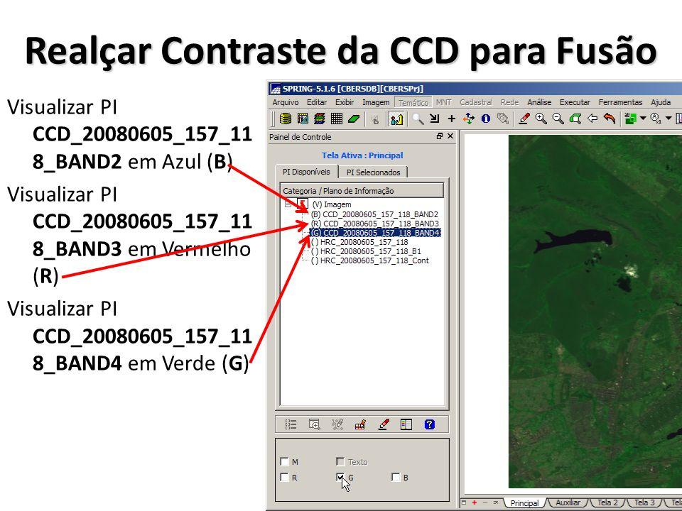 Realçar Contraste da CCD para Fusão