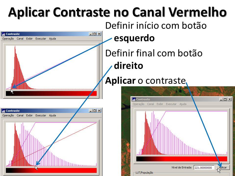 Aplicar Contraste no Canal Vermelho