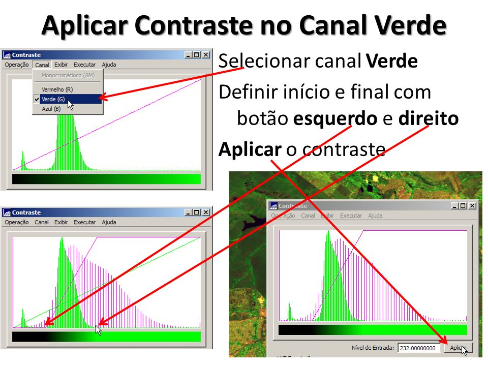 Aplicar Contraste no Canal Verde