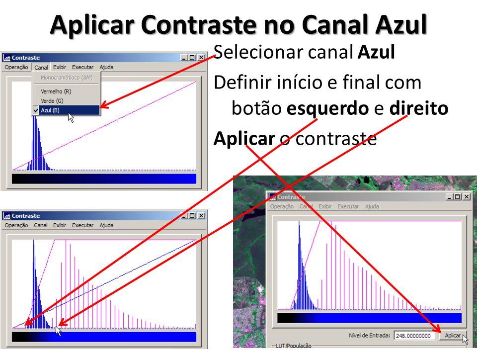 Aplicar Contraste no Canal Azul