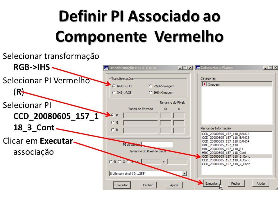 Definir PI Associado ao Componente Vermelho