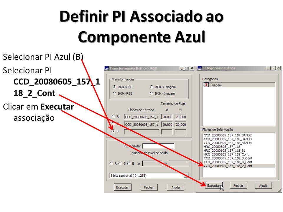 Definir PI Associado ao Componente Azul