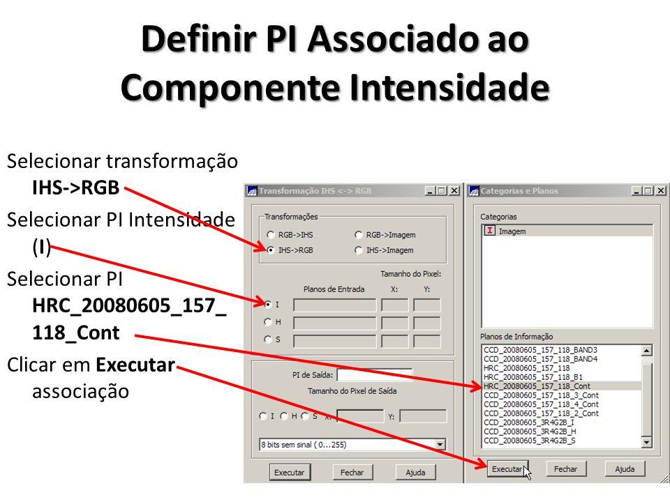 Definir PI Associado ao Componente Intensidade