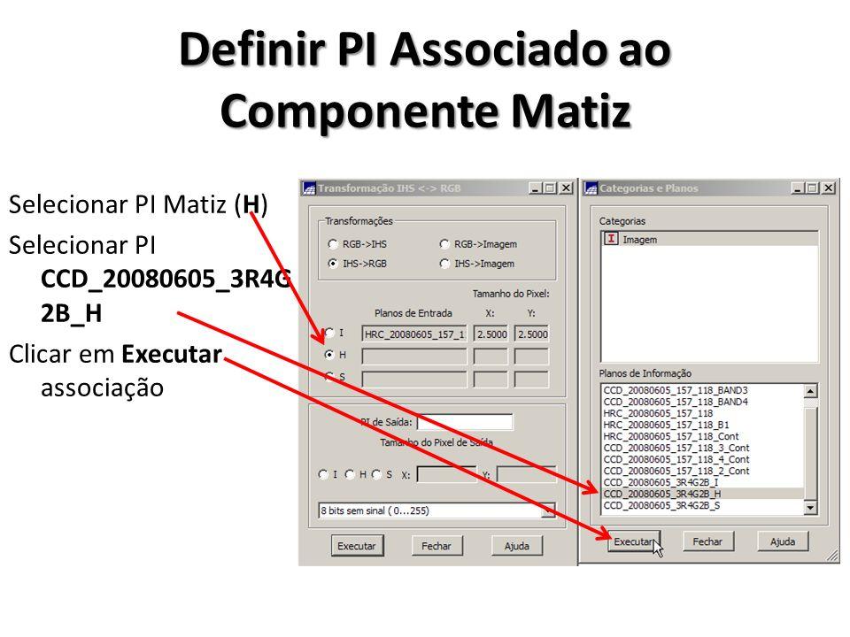 Definir PI Associado ao Componente Matiz